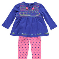 Kids' | 40% Off Kidswear & Toys | Newborn Girls 0-9 Months Cotton Interlock Tunic & Printed Leggings Set | Lord and Taylor