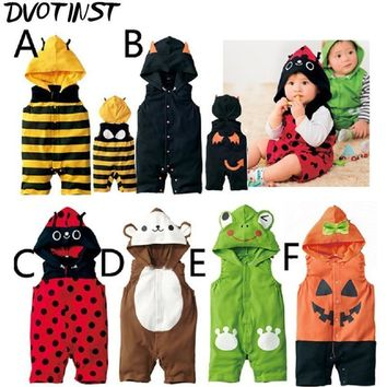 Baby Boys Girls Animals Bee Pumpkin Ladybuy Halloween Cosplay Outfits Playsuit Kids Infantil Toddler Jumpsuit Clothing Costume