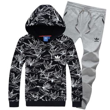 NOV9O2 Adidas Top Sweater Pullover Hoodie Pants Trousers Set Two-Piece Sportswear-4
