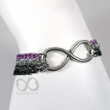 Ace Pride Chain Bracelet with Infinity Symbol Charm