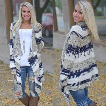 DCCKHQ6 Fashion long-sleeved knit cardigan sweater
