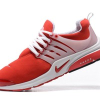 NIKE trend of running shoes casual shoes Red and white