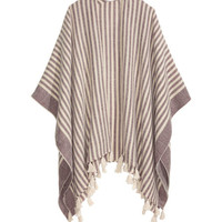 Striped Poncho - from H&M