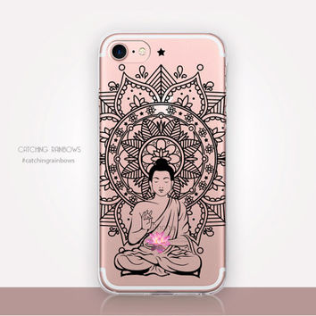 Transparent Buddha Phone Case - Transparent Case - Clear Case - Transparent iPhone 7 - Clear iPhone 7 Plus - Gel Case - Soft TPU - iPhone SE