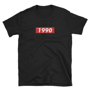 Established in 1990 Birthday Unisex Birthday Tee by Bare Culture Apparel