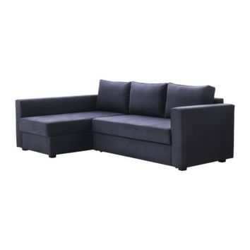 MÅNSTAD Corner sofa-bed with storage - Gobo blue-gray  - IKEA