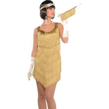 Roaring '20s Champagne Flapper Dress from Party City