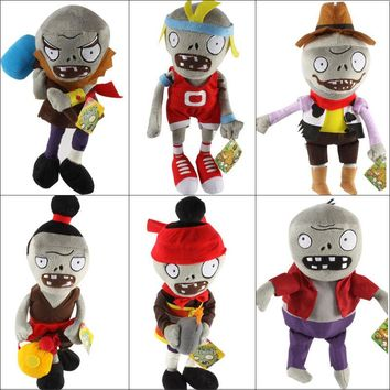 New Arrival Plants vs Zombies Plush Toys 30cm PVZ Zombies Soft Stuffed Toy Doll Game Figure Statue for Children Gifts Party Toys