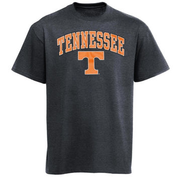 Tennessee Volunteers Arch Over Logo T-Shirt - Charcoal