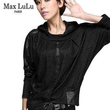 Tops and Tees T-Shirt Max LuLu Luxury European Fashion Girls Casual Cropped  Tee Shirts Womens Hooded T-shirt Camisetas Mujer Woman Loose  AT_60_4 AT_60_4