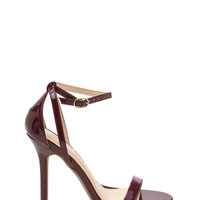 Slick Move Strappy Faux Patent Heels