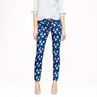 Cropped matchstick jean in indigo floral - Jeans - Women's pants - J.Crew