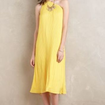 Maeve One-Shoulder Maxi Dress in Yellow Size: