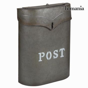 Gray metal mailbox post - Art & Metal Collection by Homania