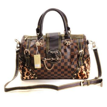 Louis Vuitton LV Fashion Leather Travel luggage Tote Handbag Satchel Shoulder Bag-3