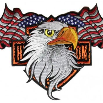 Patriotic Eagle Large Back Patch