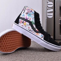 Trendsetter VANS SK8-Hi Canvas Print Flats Ankle Boots Sneakers Sport Shoes