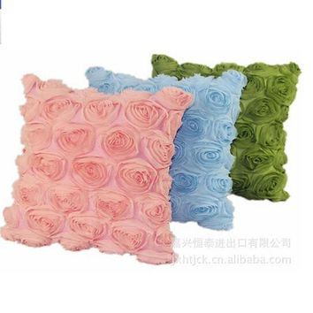 3D Wedding rose pillowcases Couch Flower Cushion Cover