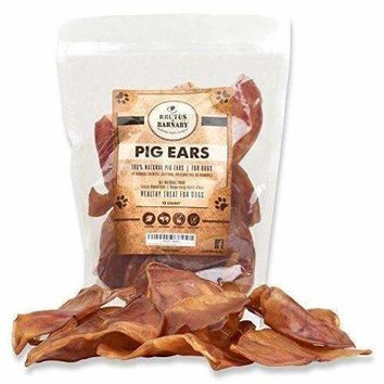 Brutus & Barnaby 100% Natural Whole Pig Ear Dog Treat, Healthy, Pure Pork Ear is definitely Digestible without any Added Colorings, Chemicals or Hormones