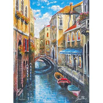 Venice - Limited Edition Artist Proof Lithograph on Paper by Anatoly Metlan