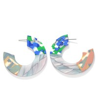Ocean Life Acrylic Tortoiseshell Earrings