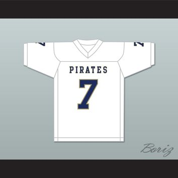Brandon Bea 7 Independence Community College Pirates White Football Jersey