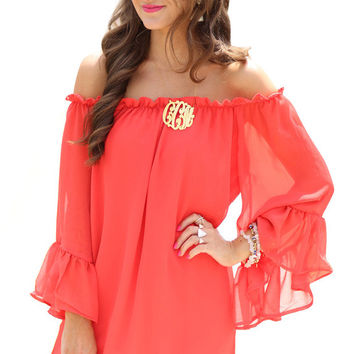Chiffon Off The Shoulder Sweet Flower Mini Dress