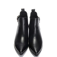 Elasticated Pointed-toe Ankle Boots