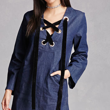 English Factory Chambray Dress