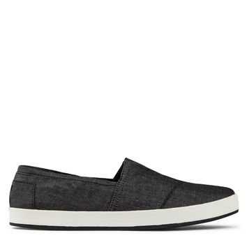 Toms Avalon Slip-Ons Men's - Black Chambray