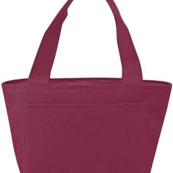 Insulated Cooler Tote Lunch Bag (Maroon) - CASE OF 24