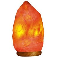 WBM # 1003 Natural Air Purifying Himalayan Salt Lamp With Neem Wood Base, Bulb &  Dimmer Switch