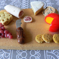 Miniature Cheese Platter 112 by WinsomeMiniatures on Etsy