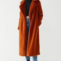 UO Charlie Long Faux Fur Coat | Urban Outfitters
