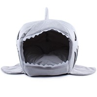 Dog Supplies 2 Size Soft House Shark l Cat Bed Cat House