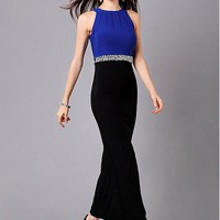 [49.99] In Stock Fabulous Sheath Knitting Jewel Neckline Ankle Length Prom Dress With Beadings - Dressilyme.com