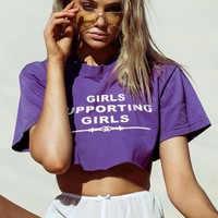Loose Letter Printed T-Shirt