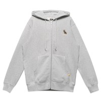 OWL LOGO ZIP-UP HOODY - GREY