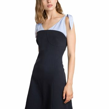 NUMERO SHOULDER SCARF TIE DRESS - 15%