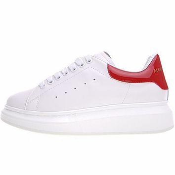 Alexander McQueen sole White&Red sneakers