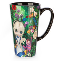 Alice in the Garden Latte Mug by Jasmine Becket-Griffith