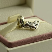 Authentic Pandora Bead Charm For Bracelet ICE SKATE Dangle BEAUTIFUL great for Christmas