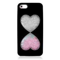 Double Hearts Dancing Diamond Case for iPhone 5