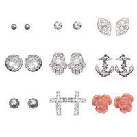 Karma Button Earring Set | Wet Seal