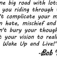 Life Is One Big Road Bob Marley Vinyl Wall Art Decal