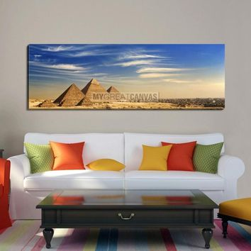 Large Wall Art Egypt Canvas Print - Egypt Pyramids Landscape