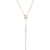 FOREVER 21 Geo Lariat Necklace Gold One
