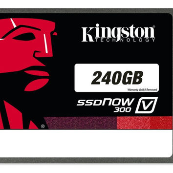 Kingston Digital 240GB SSDNow V300 SATA 3 2.5-Inch Solid State Drive with Adapter (SV300S37A/240G)
