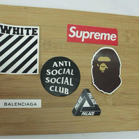 6 pcs stickers / skateboard stickers/ laptop stickers / book stickers / closet stickers / locker stickers