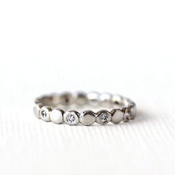 diamond 14k gold eternity band, engagement ring, wedding ring, sustainable metal, eco friendly ring, ethically mined diamonds